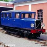 NOR The narrow gauge railway museum in Mariefred  draisine volvo 1934