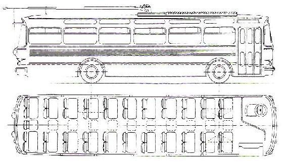 Nákres trolejbusu T11 LUX