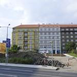 Stavba trolejbusovej trate v Prahe