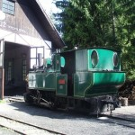 D01 parna lokomotiva pred depom