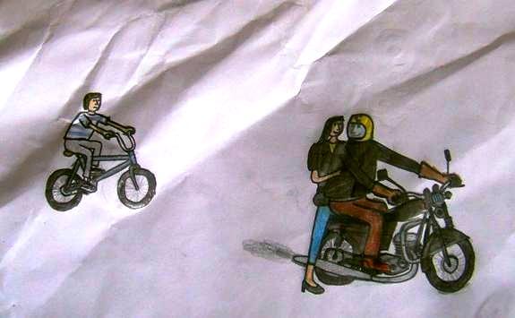 1-1. Bicykel vs. Jawa 350