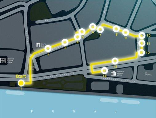 Mapka ulice svetla