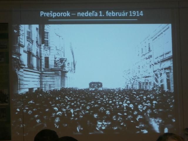 Slávnostné otvorenie trate 1. februára 1914