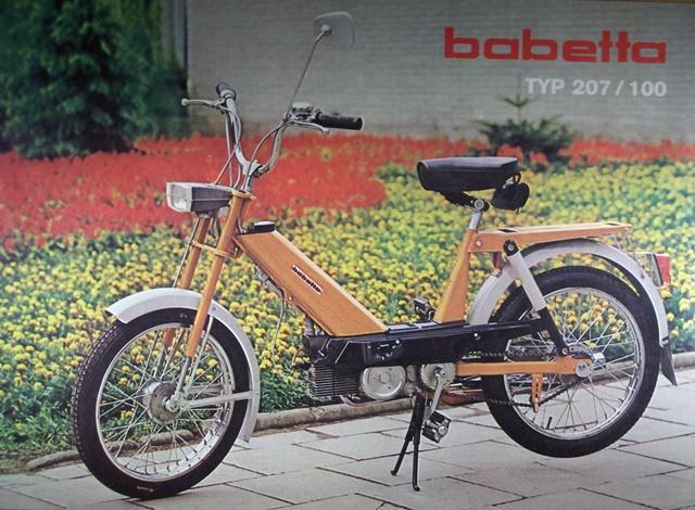 Babeta 207 100 s odpruženými kolesami