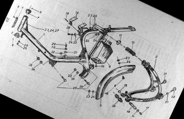 01 ram noveho  motocykla Pionier 555