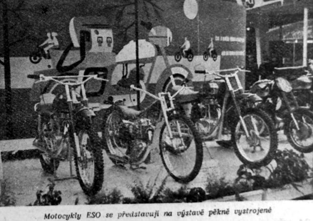 08 brnensky veltrh 1957 motocykle Eso z Divsova