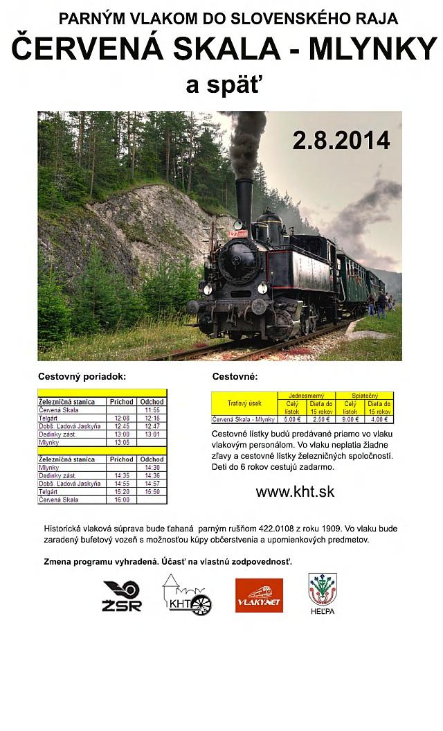 Parným vlakom do Slovenského raja