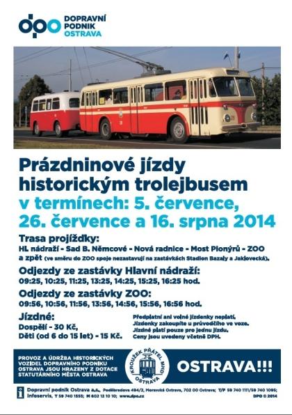 prazdninove jazdy historickým trolejbusom Ostrava