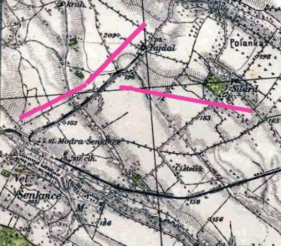 18 vysek mapy ovocinarskou konkou na Fajdal s pokracovanim na Szilard