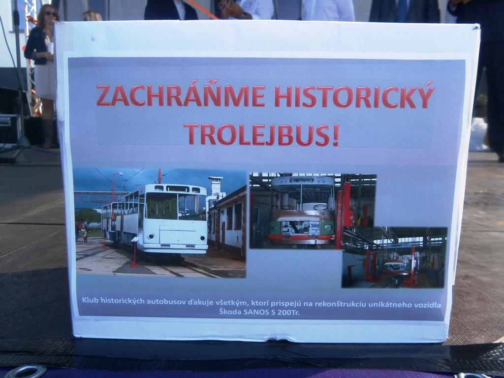 Pokladnička na renováciu historického trolejbusu Škoda Sanons S 200 Tr