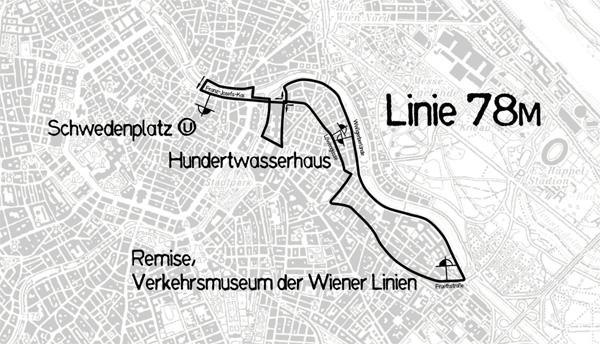 Mapka linky 78M
