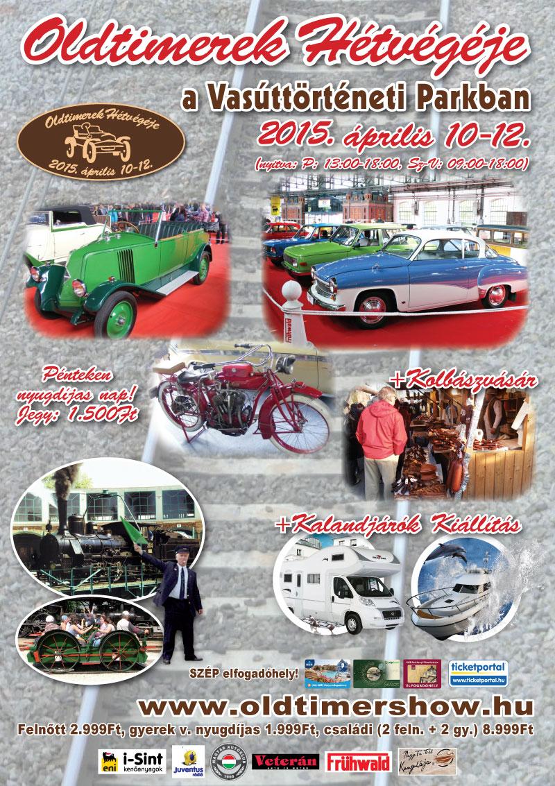 Oldtimerek Hétvégéje 2015' plakát