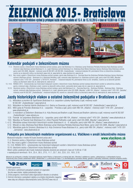 kalendar 2015 Bratislava