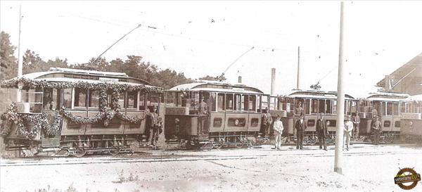 Slávnostná otváranie električkovej dopravy v Bratislave (27.08.1895)