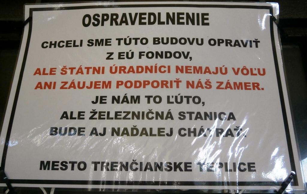 Ospravedlnenie mesta Trenčianske Teplice