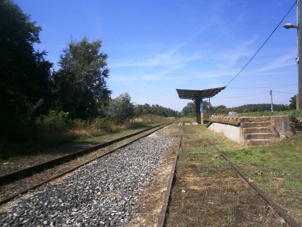 Pohľad na nakladaciu rampu vo Vlčanoch