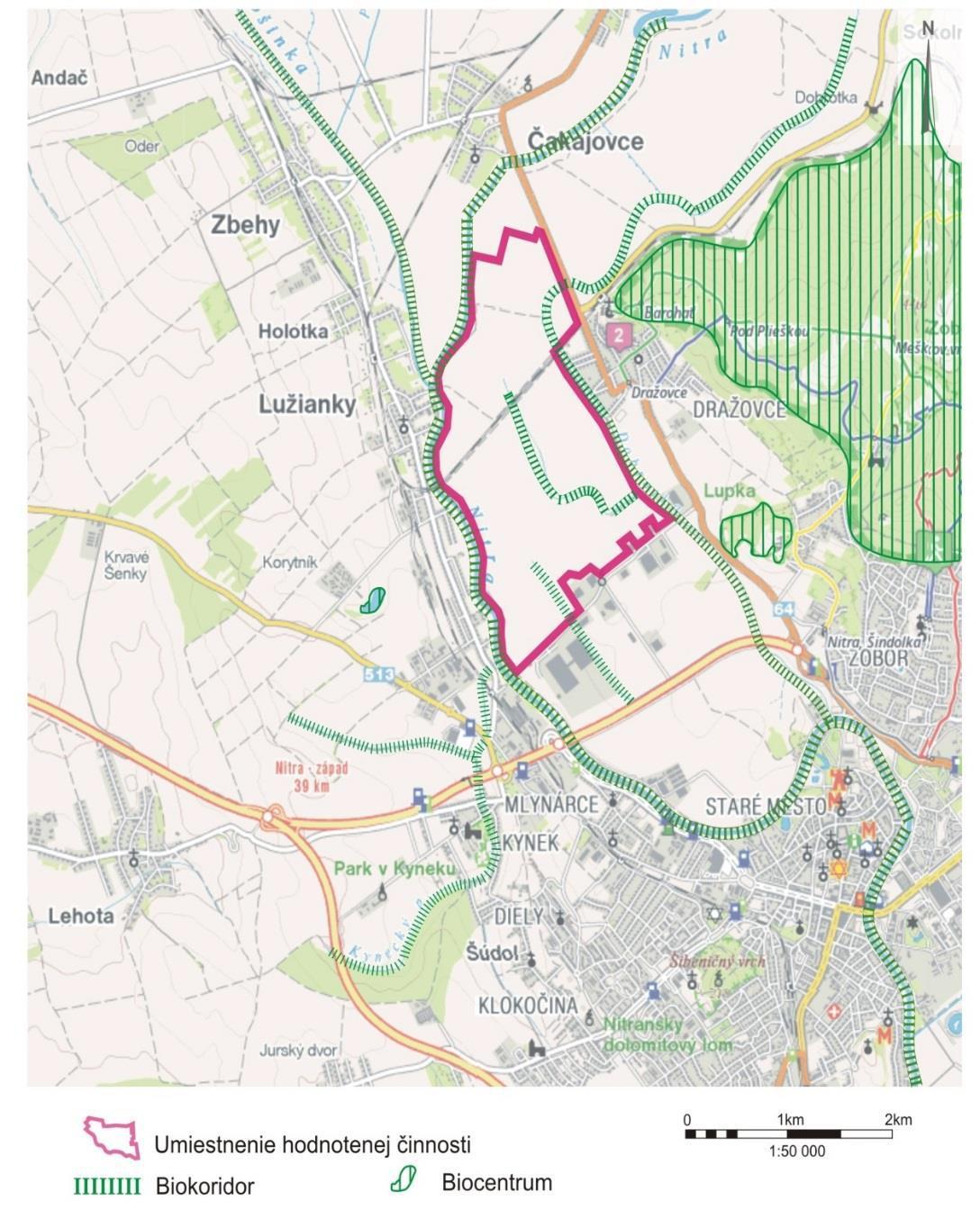 Mapa Luzianky - Drazovce