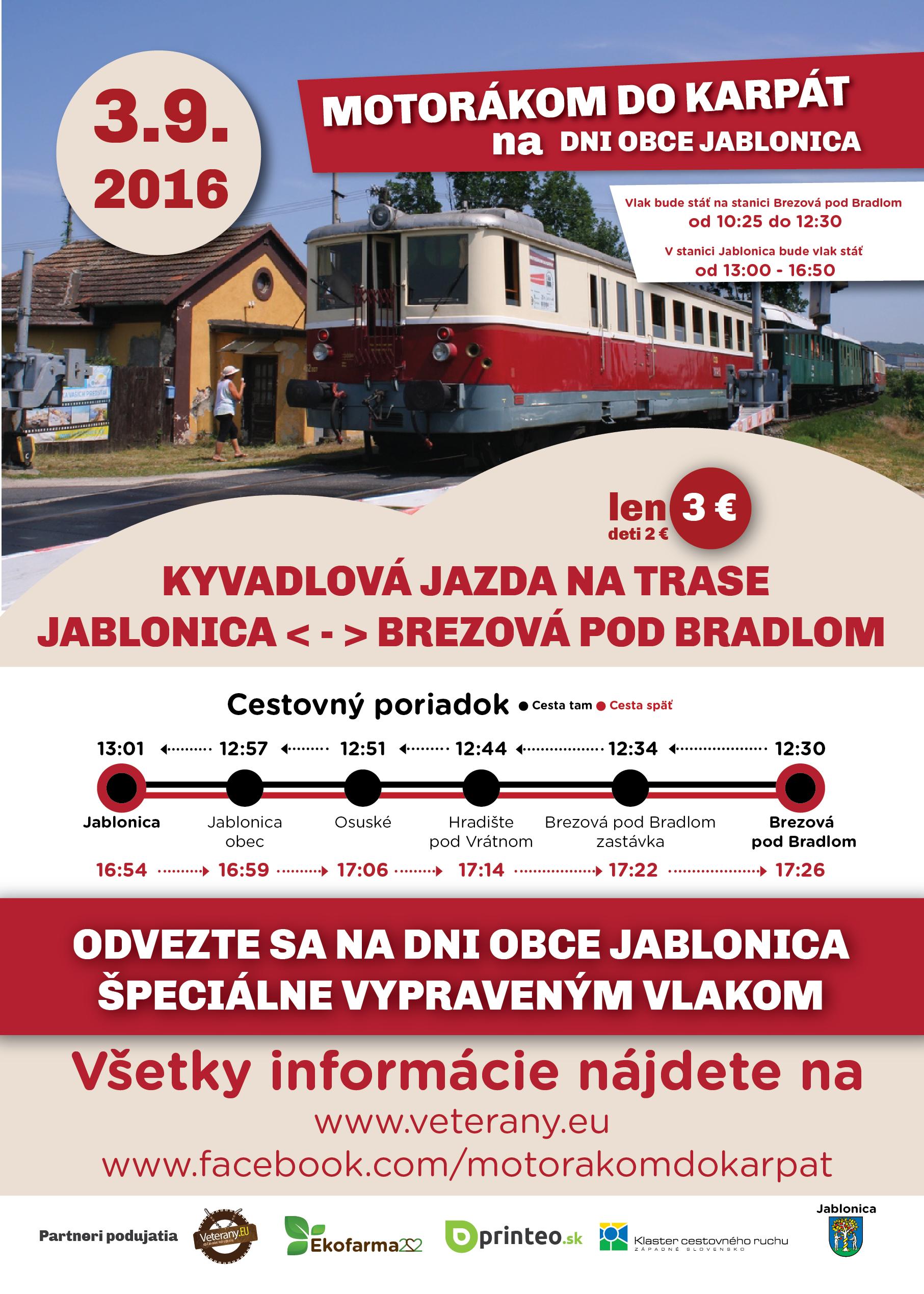 Motorakom do Karpat 3.9.2016 Kyvadlova jazda