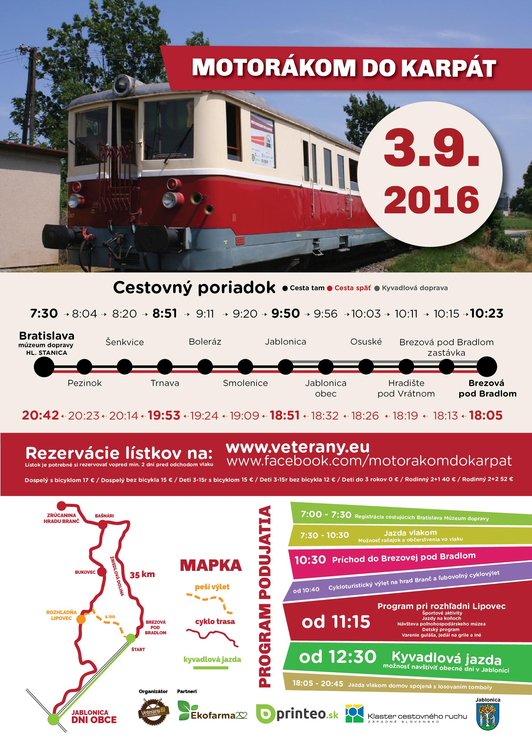 Motorakom do Karpat 3.9.2016